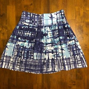 The Limited Blue Printed Skirt